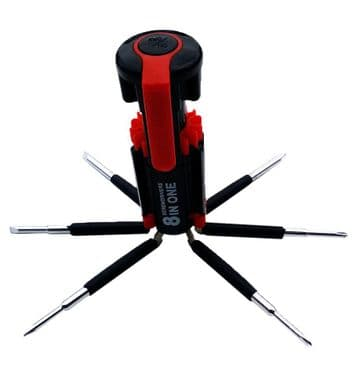 8 in 1 new MULTIFUNCTION SCREWDRIVER with 6 LED LIGHT portable STAINLESS STEEL